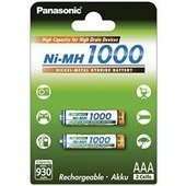 Piles rechargeables AAA 1000 Ni-mh Panasonic 1,2 V (pack de 2) Ref: BK-4HGAE/2BE