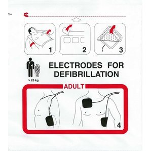 Electrodes adulte Schiller Fred Easy Port Defigard T7 HD7 (lot de 2)